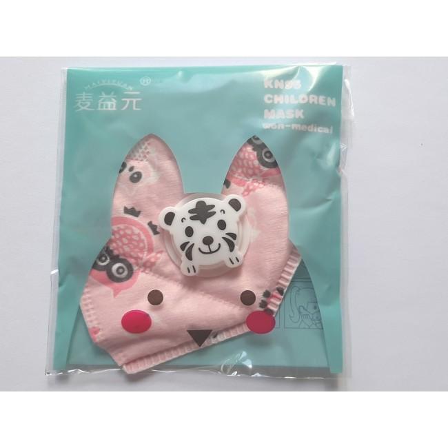 MASCA KN95 COPII - cu filtru - roz