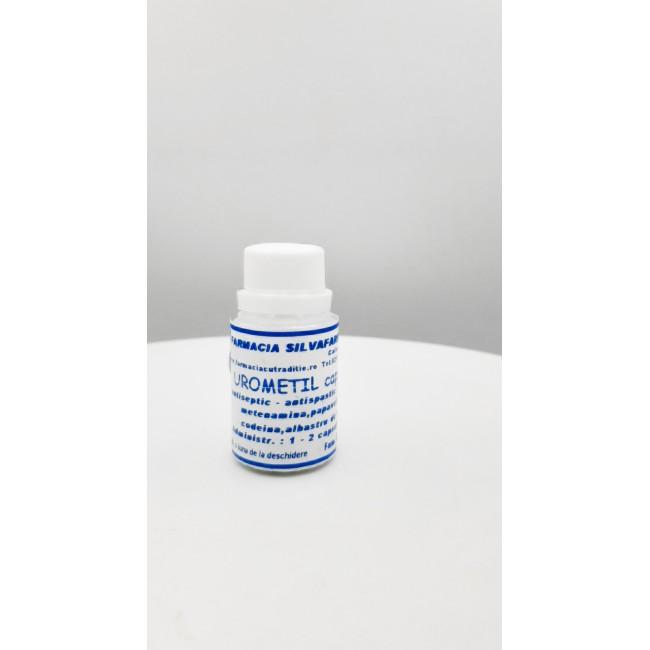 TRATAMENT INFECTII URINARE UROMETIL cu albastru de metil 10 capsule