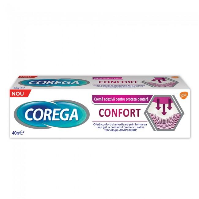 COREGA CONFORT crema adeziva pentru proteaza, 40g