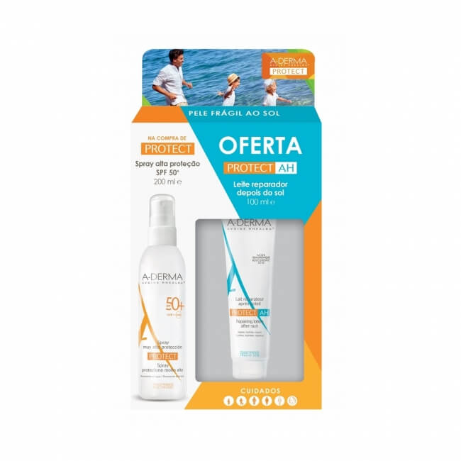 DUCRAY A-DERMA PROTECT Spray SPF 50+ 200ml + A-DERMA PROTECT AH AFTER SUN 100ml