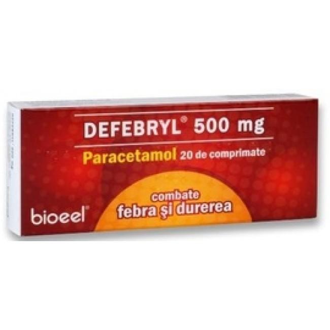 DEFEBRYL PARACETAMOL 500mg 20 comprimate