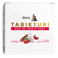 ALEVIA Tabieturi Ceai de Fructe Rosii 12 plicuri