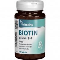 VITAMINKING VITAMINA B7 (BIOTINA) 100 tablete