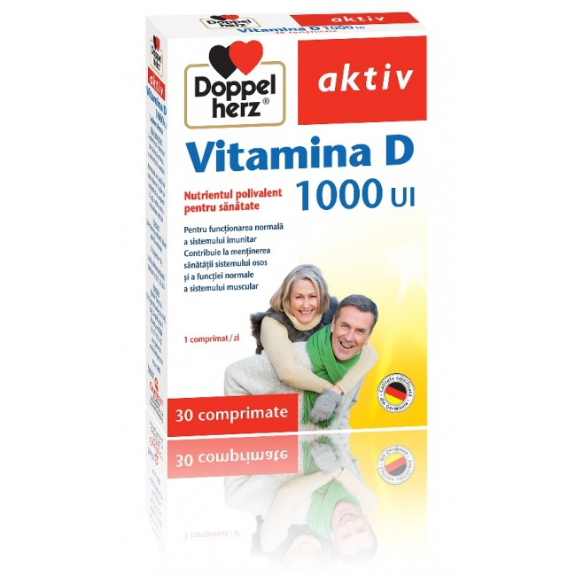 DOPPELHERZ VITAMINA D 1000 UI 45 comprimate