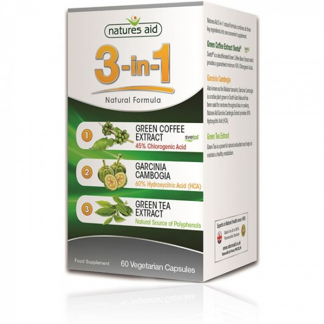 NATURES AID 3 in 1 Natural Formula 60 capsule