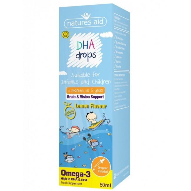 NATURES AID DHA OMEGA-3 picaturi pentru copii 50ml