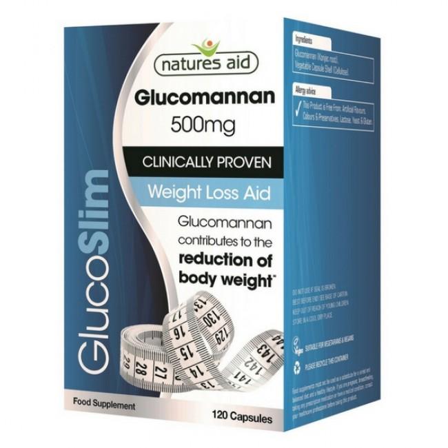 NATURES AID GlucoSlim GLUCOMANNAN 500mg 120 capsule