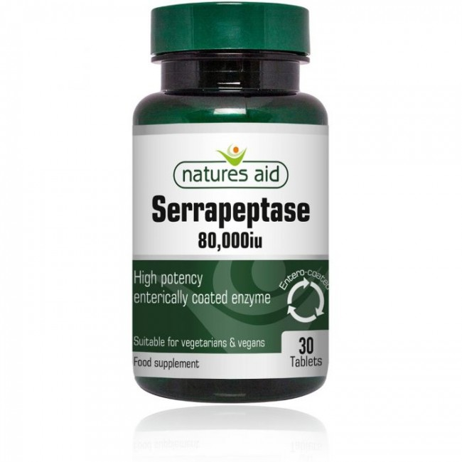 NATURES AID SERRAPEPTASE 80.000iu 30 tablete