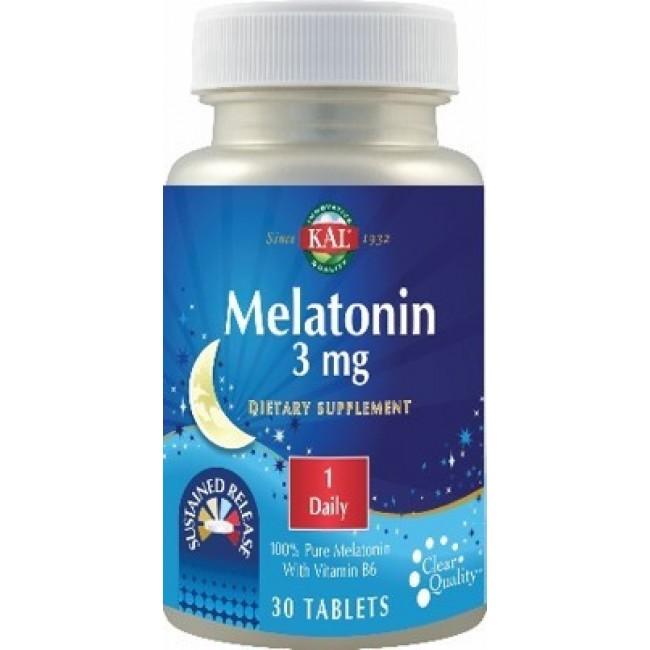 SECOM Melatonin 3mg 30 tablete cu eliberare prelungita