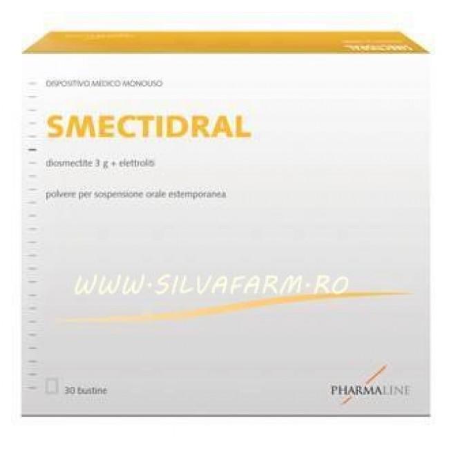SMECTIDRAL 30 plicuri : diosmectita 3g+ electroliti